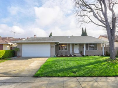 front yard in a home for sale in Santa Clara CA